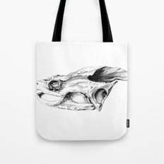 Snapping Turtle Skull Tote Bag