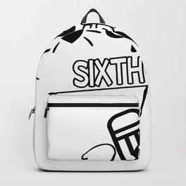 Back to School Hello 6th Grade School Backpack