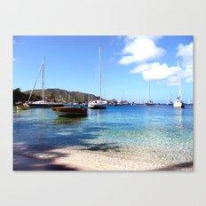 bequia harbor Canvas Print