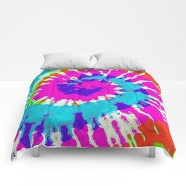 Batik Flower Power Spiral grunge Comforters