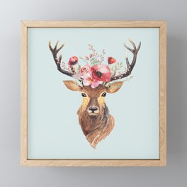 Bohemian Deer 2 Framed Mini Art Print