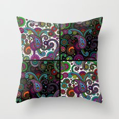 Paisley Panels Throw Pillow