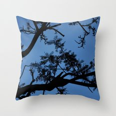Midnight Branches Throw Pillow
