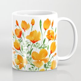 Watercolor California poppies Coffee Mug