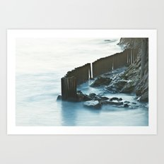 Fenced Water Art Print