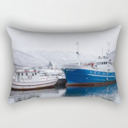 Boats in Tromso Rectangular Pillow