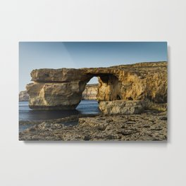 The Azure Window, Malta Metal Print