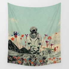Lonely Diver Wall Tapestry