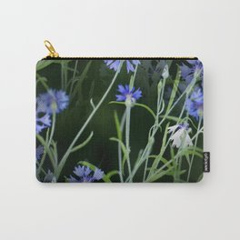 Cornflowers on Dark Background #decor #society6 #buyart Carry-All Pouch
