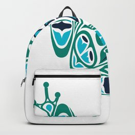 Frog Pacific Northwest Native American Indian Style Art Backpack