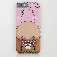 Cute Monster With Orange And Pink Frosted Cupcakes iPhone 6s Slim Case
