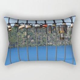 Padlocks of Love - Mount Gambier - The Blue Lake Rectangular Pillow