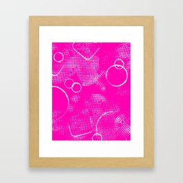 Texture #26 in Hot Pink Framed Art Print