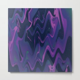 Wavy Space - Purple Metal Print