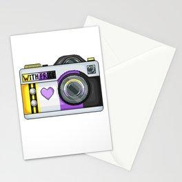 Non-Binary Pride Pixel Camera Stationery Cards
