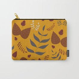 Autumn leaves and acorns - ochre and brown Carry-All Pouch