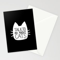 Talk to Me About Cats (white) Stationery Cards