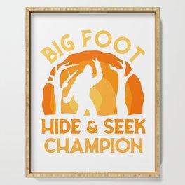 Bigfoot Champion Hide-and-seek Champ Serving Tray