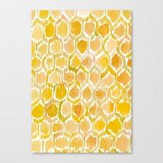 Golden Honeycomb Canvas Print