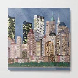 illustrations tower city Metal Print