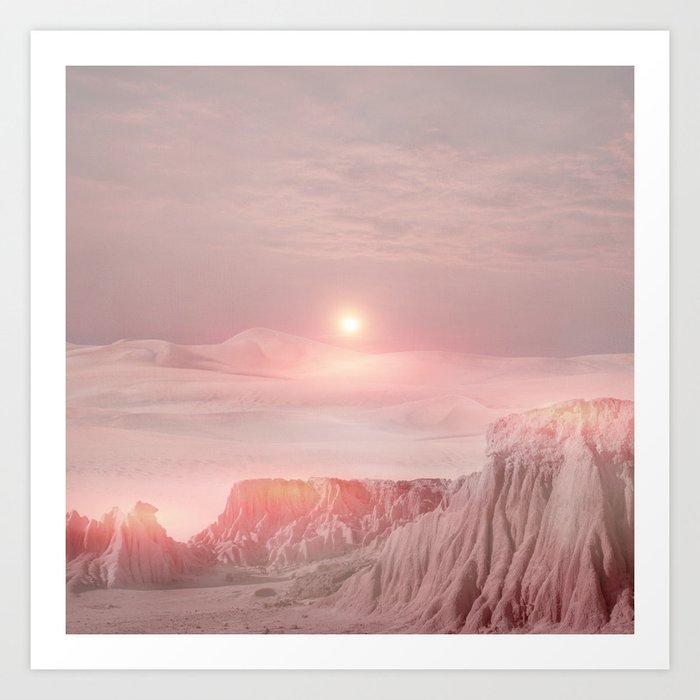 Pastel desert Art Print