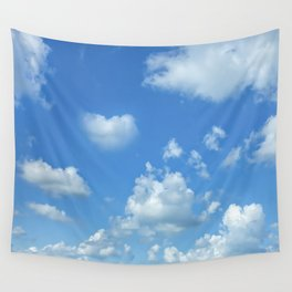 Blue sky and clouds Wall Tapestry