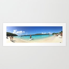 Paddle-boarding in Paradise Art Print