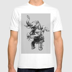 Fly Heavy MEDIUM White Mens Fitted Tee