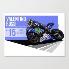 Valentino Rossi - 2015 Losail Canvas Print