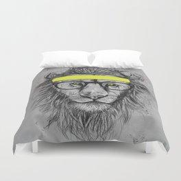 hipster lion Duvet Cover