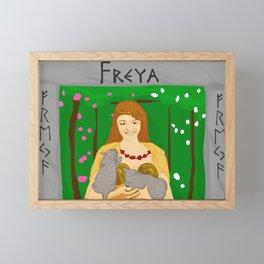 Freya Nose Goddess (with name) Framed Mini Art Print