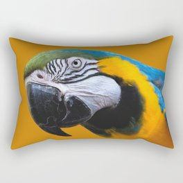 Macaw Parrot Photography | Exotic Bird | Tropical | Turquoise | Yellow | Art Print Rectangular Pillow