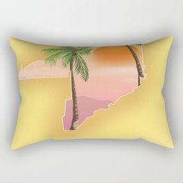 Miami Florida Vacation poster. Rectangular Pillow