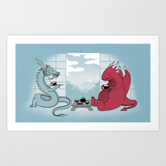 A Friend's Visit Art Print