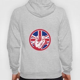 British Gym Circuit Union Jack Flag Icon Hoody