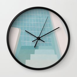 Swimming Pool Summer Wall Clock