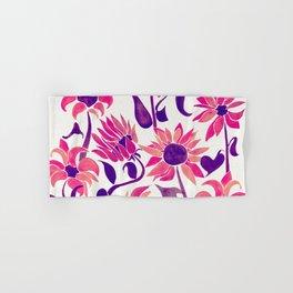 Sunflower Watercolor – Pink & Purple Palette Hand & Bath Towel
