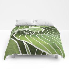 Hosta Detail Comforters