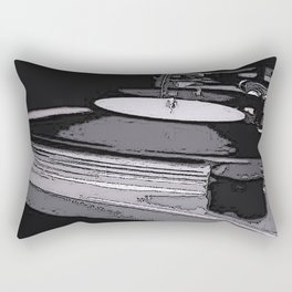 Music Turntable Rectangular Pillow