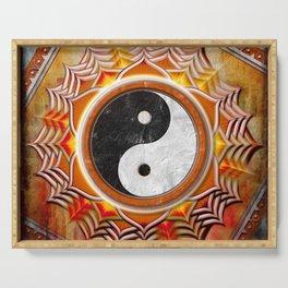 Yin Yang - Healing Of The Orange Chakra Serving Tray