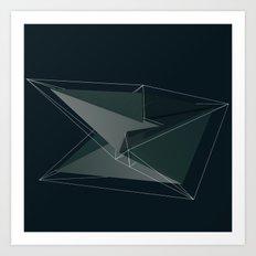 3d shapes Art Print