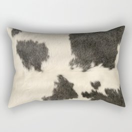 Black & White Cow Hide Rectangular Pillow