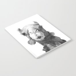 Black and White Camel Portrait Notebook