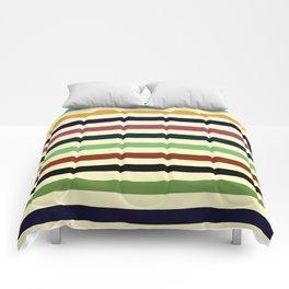Colorful Retro Stripes Comforters