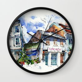 Shophouses  at Dickson Road, Little India Singapore. Wall Clock