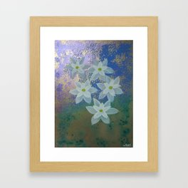 """Golden Morning flowers"" Framed Art Print"
