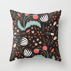 Floral Fusion Throw Pillow