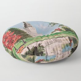 London England LDS Temple Painting Floor Pillow