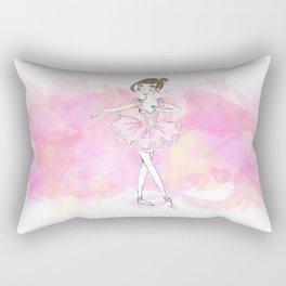 PinK Ballerina Rectangular Pillow