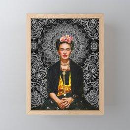 Frida Kahlo Black Framed Mini Art Print